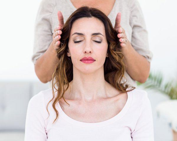 Woman Receiving Healing Attunement