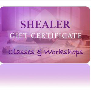 Classes Workshops Gift Certificate